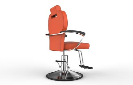 barber chair: Orange Barber Chair
