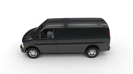 Black Van Side View Фото со стока