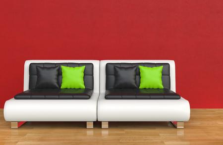 decoraton: Red Lounge Room