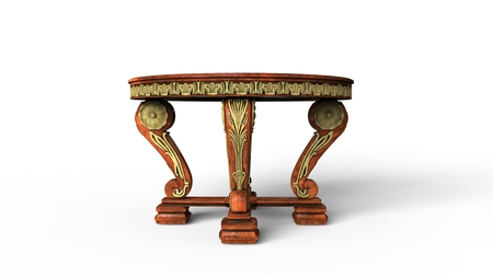 antique table: Ornate Antique Table Stock Photo