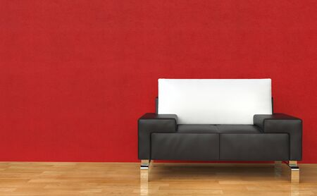 leather armchair: Red Room Leather Armchair