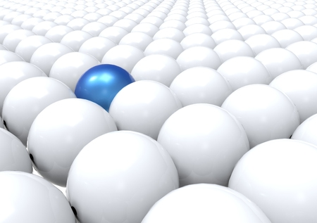 standing out: Unique Ball Standing Out - Blue