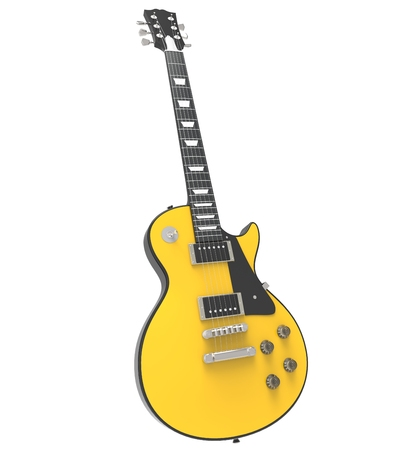 hardrock: Yellow Electric Guitar