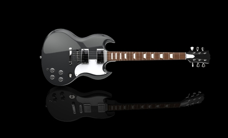 hardrock: Solid Guitar Black On Black