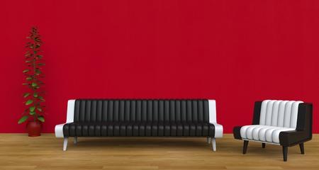 modern living: Modern Living Room Red