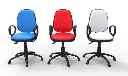 01: Multicolored Office Chairs 01