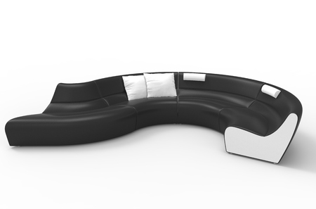 white sofa: Elegant Stylish Black And White Sofa