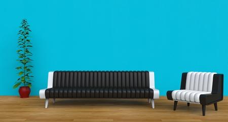 modern living: Modern Living Room Teal
