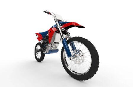 super cross: Dirt Bike Rojo Primer neumático delantero Foto de archivo
