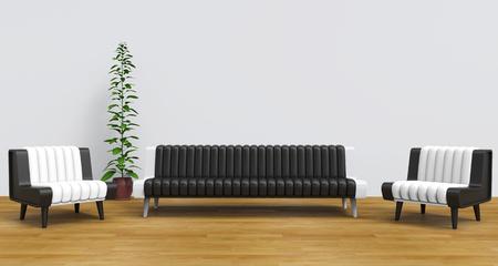 vase plaster: Modern Lounge Room 2