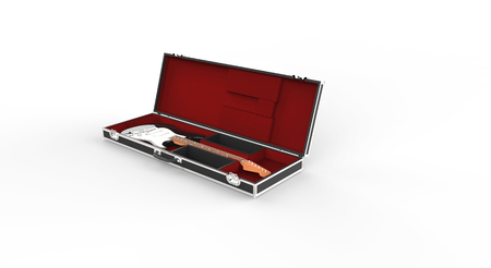 guitar case: Guitar Case With Electric Guitar