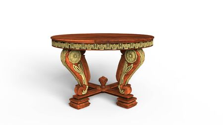 antique table: Old Ornate Table Stock Photo