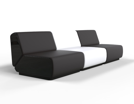 lounge chairs: Modern Black and White Lounge chairs.