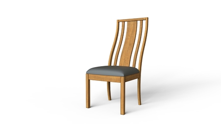 wooden chair: Wooden Chair Stock Photo