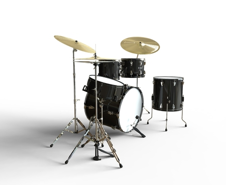 drumset: Drum Set Side View