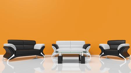 contemporary living room: Contemporary Living Room Orange