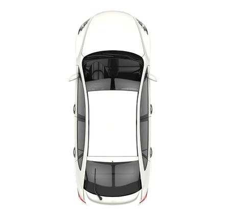 白い車のトップ ビュー 写真素材 - 44861638