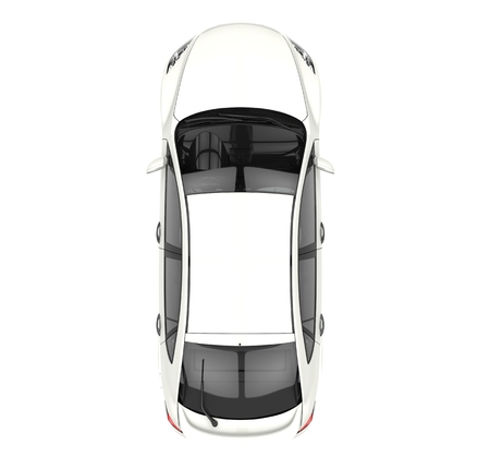 White Car Top View