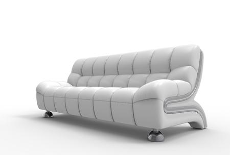 white sofa: White Leather Sofa