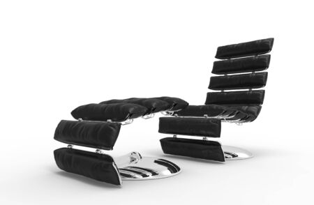 leather armchair: Modern Leather Relaxing Armchair 1