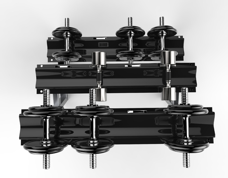 barbel: Dumbbell Weight Stand Top View