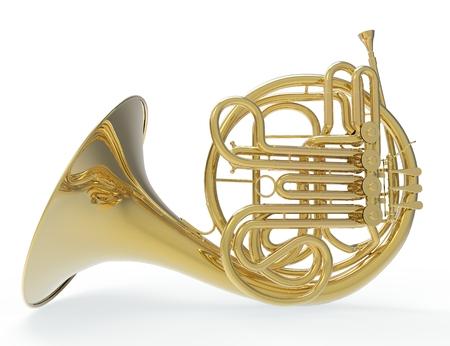 music instruments: French Trombone 2 Stock Photo