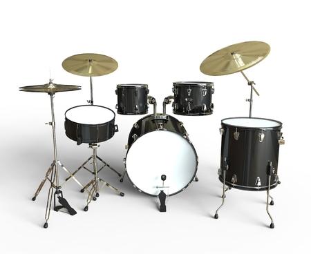 bass drum: Drum Set Front View
