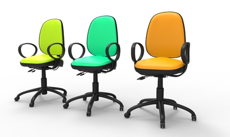 office chairs: Multicolored Office Chairs 02