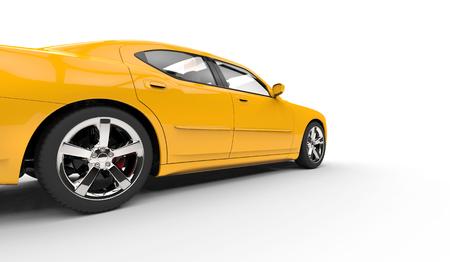 speed car: Yellow American Car Speed Shot