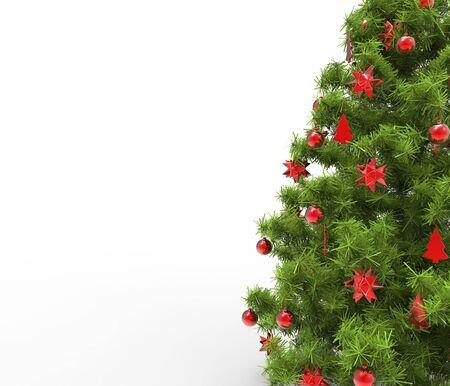 Xmas Tree - Red Decorations Close Up
