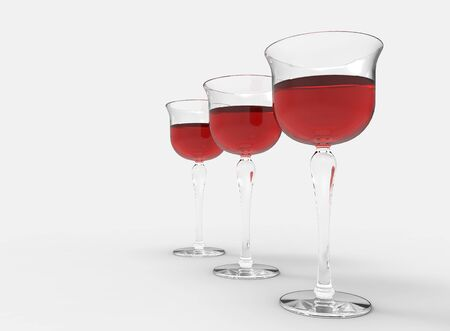 Red Wine Row Stock Photo