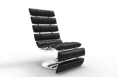 leather armchair: Modern Leather Relaxing Armchair 2 Stock Photo