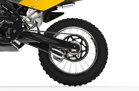 dirt bike: Yellow Dirt Bike Back Wheel