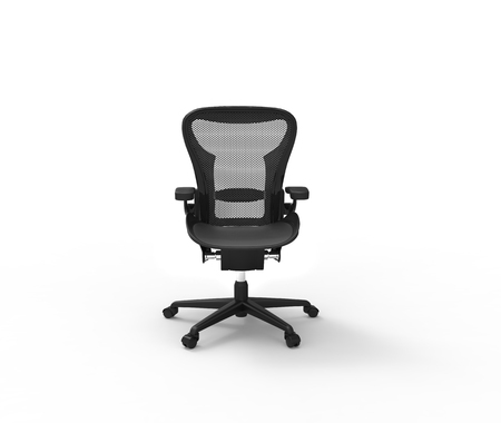 elbow chair: Office Chair Front View