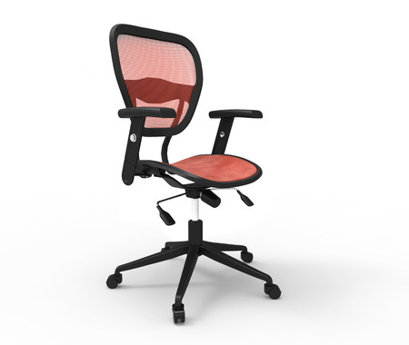 beauty shot: Red Office Chair Beauty Shot