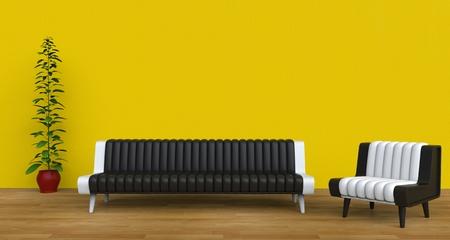 modern living room: Modern Living Room Yellow