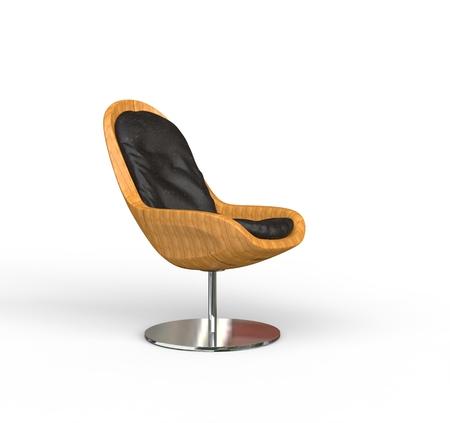 beauty shot: Modern Wooden Armchair Beauty Shot