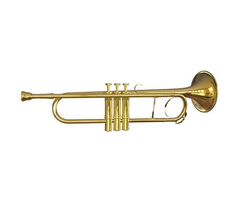 brassy: Trumpet Side View Shot Stock Photo