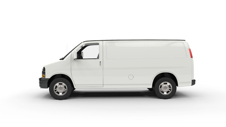 commercial: White Van Side View