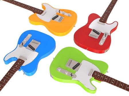 stratocaster: Electric guitars closeup Stock Photo