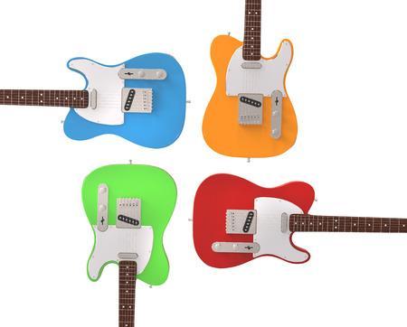 stratocaster: Electric guitars in prime colors