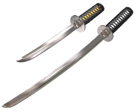 bushido: Japanese swords - isolated on white
