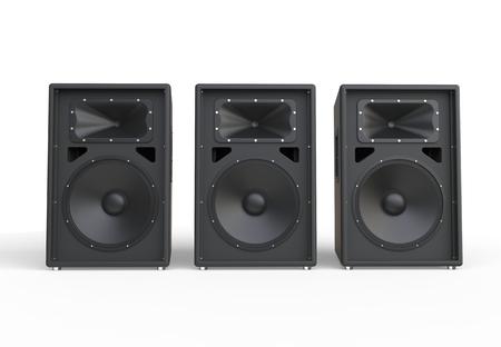 Three big concert speakers Stockfoto