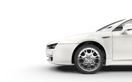 alfa: White Cutout Italian Car