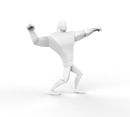 brawny: 3D Athlete Power Posing - left view.