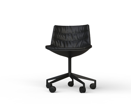 Four Colorful Office Chairs On White Background - Top View. Stock ...