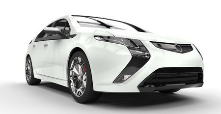 電気車白の正面クローズ アップ 写真素材 - 44760026