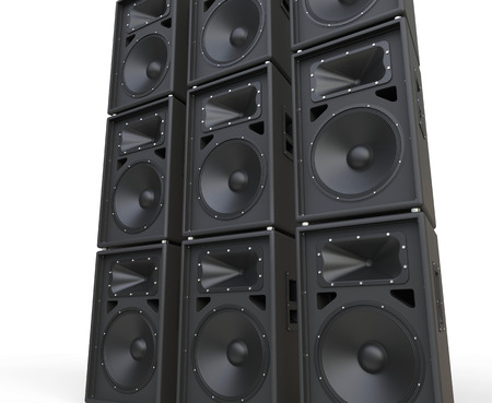 huge: Huge loudspeakers Stock Photo