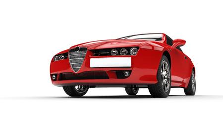 イタリアの赤い車
