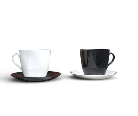 coffee cups: Black and White Coffee Cups